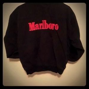 VINTAGE Marlboro Black Red Reversible Jacket Men's